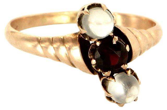 Victorian Garnet & Moonstone Ring