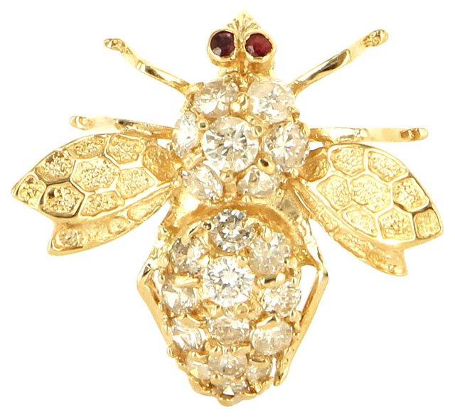 Diamond Bumblebee Brooch