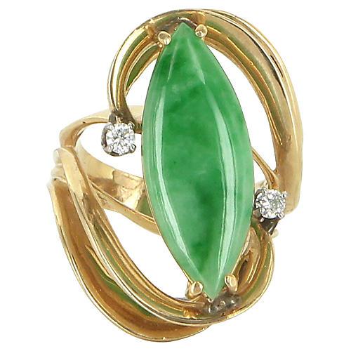 Jade Diamond Cocktail Ring