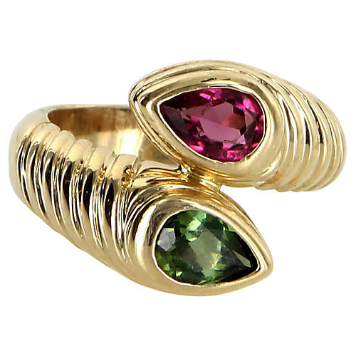 Bulgari Doppio Tourmaline Ring