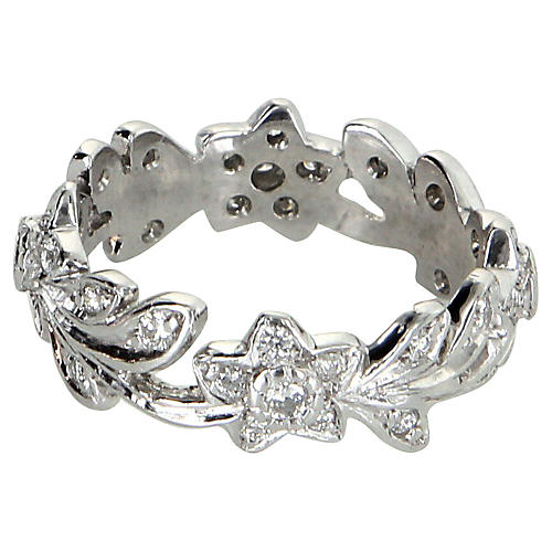 Flower & Leaf Eternity Ring