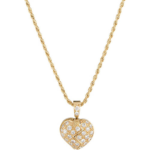 Mouawad Opening Heart Diamond Necklace