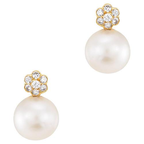 Tahitian Cultured Pearl Earrings