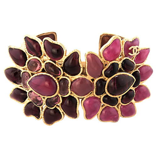 Chanel Floral Cuff Bracelet