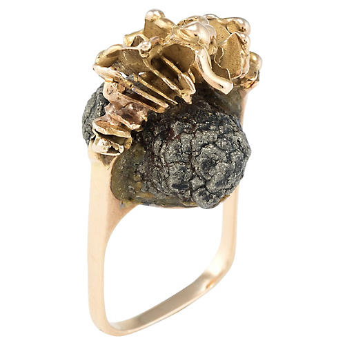 18K Gold Aurelio Teno Abstract Ring