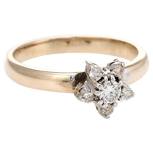 Diamond Star Stacking Ring