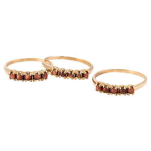 Stacking Rings Goldstone, s/3