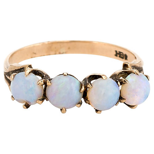 Antique Victorian 4-Stone Opal Ring