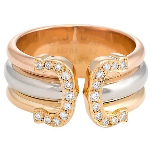 Cartier Double-C Diamond Ring