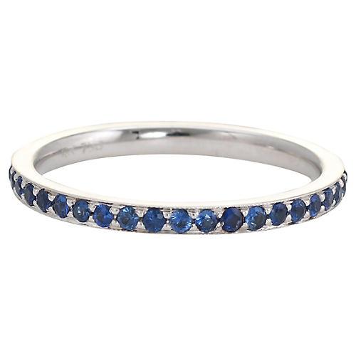 18K Sapphire Eternity Ring
