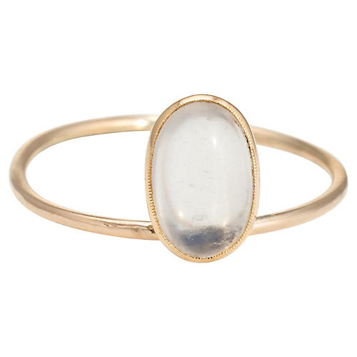 14K Victorian Moonstone Conversion Ring