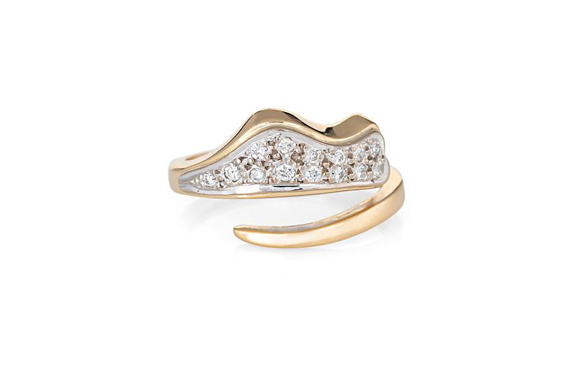 Ilias Lalaounis Diamond Band 18k Gold