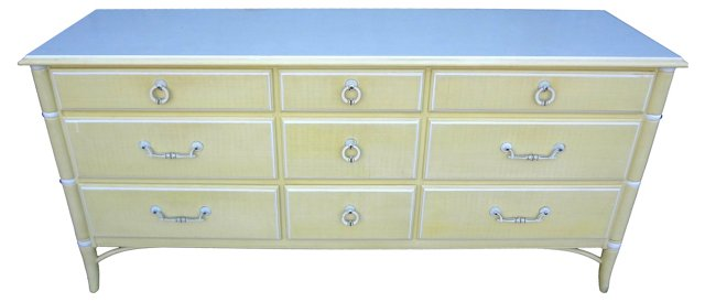 Thomasville 9-Drawer Faux-Bamboo Chest