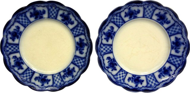 Country Floral Plates, Pair