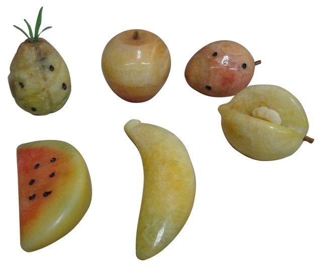Tropical Alabaster Fruit, S/6