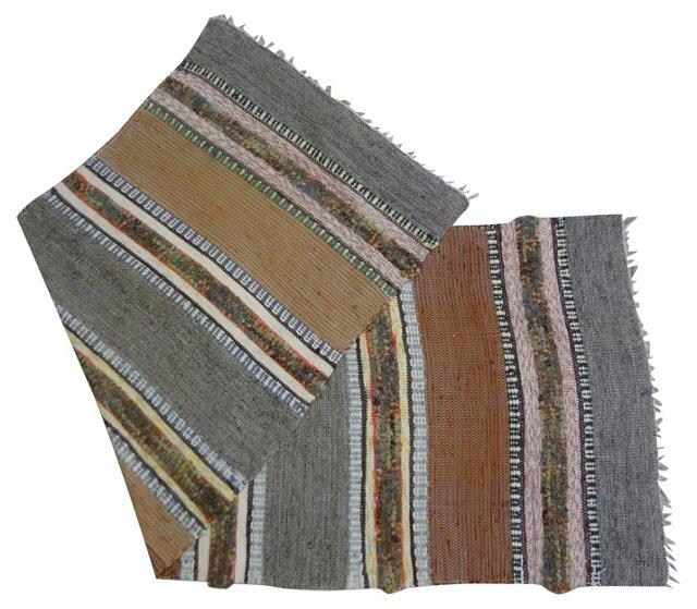 Swedish Rag Rug,   8' x 3'