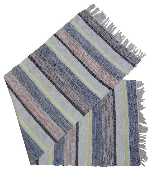 Swedish Rag Rug, 7'1'' x 2'2''