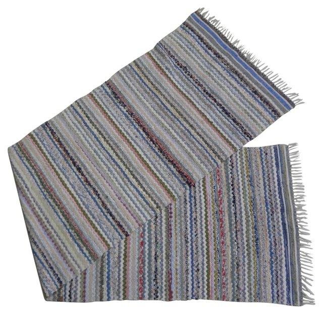Swedish Rag Rug,  9' x 2'4''