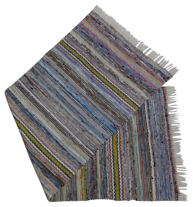 Swedish Rag Rug, 6'10'' x  2'5''