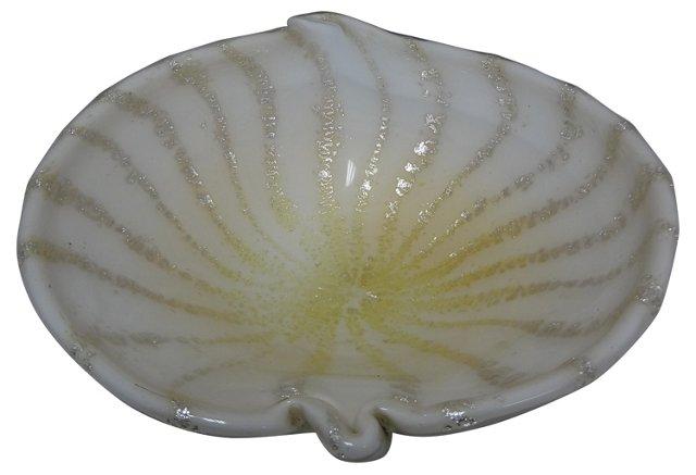 Murano Glass Shell Bowl