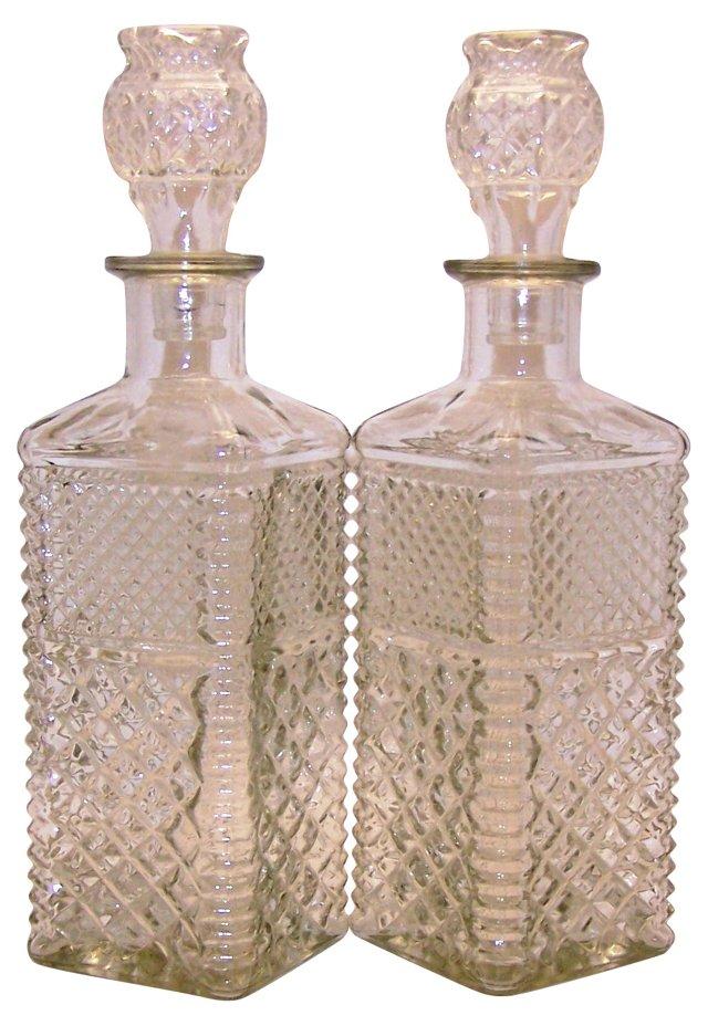 Liquor Decanters, Pair