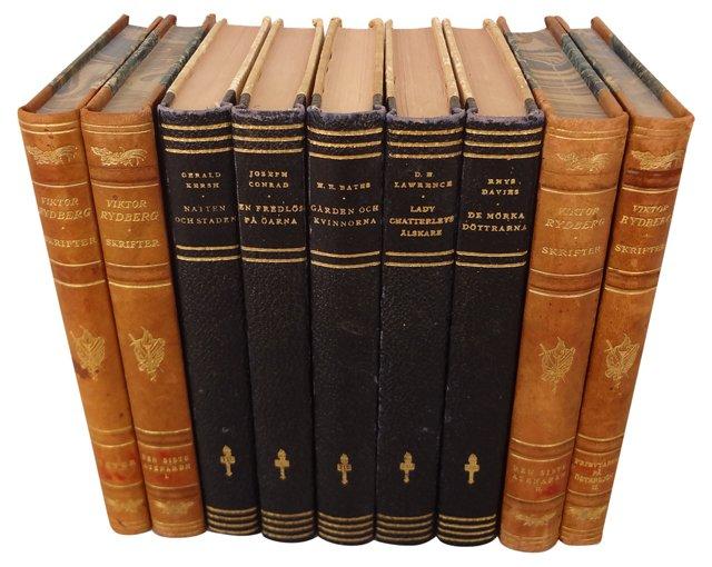 Swedish Books, Set of  9