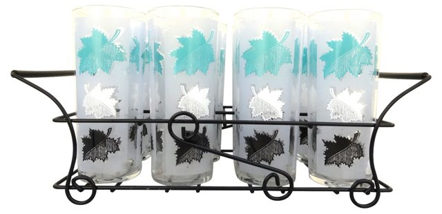 Frosted Highball Glass   Set, S/9