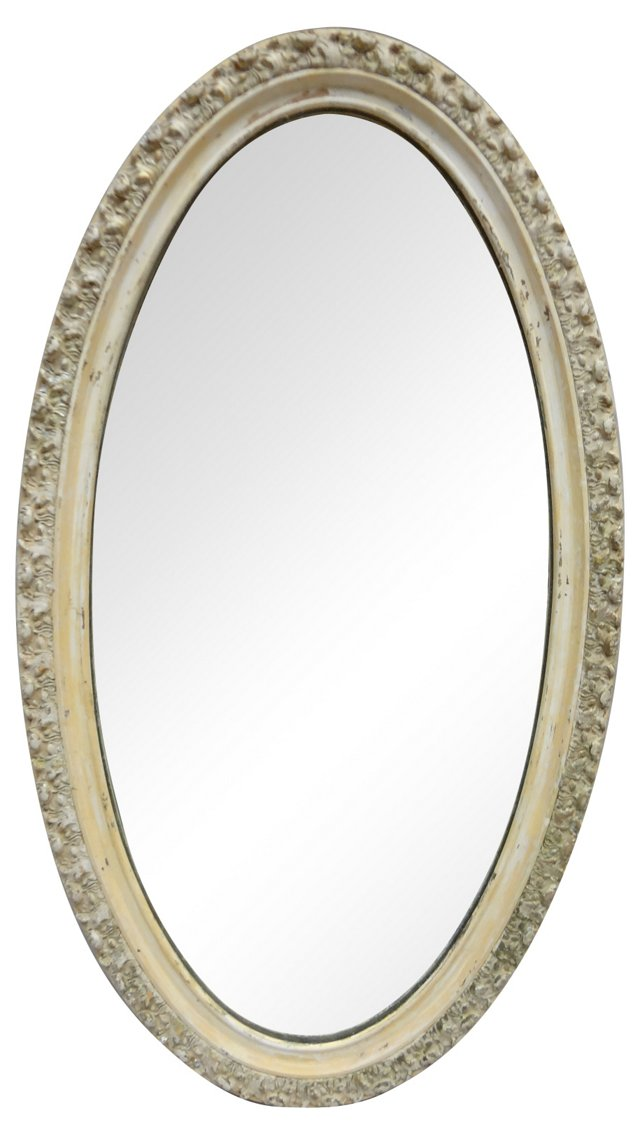 Swedish Oval Gustavian-Style Mirror