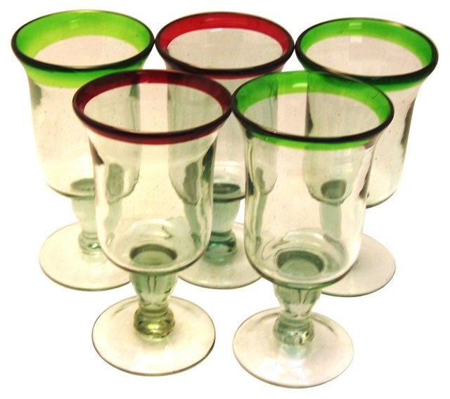 Water Goblets,  Set of 5