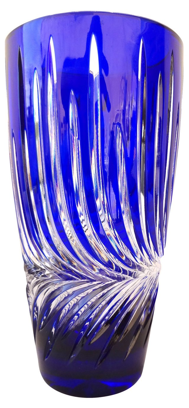 Blue Starburst Vase