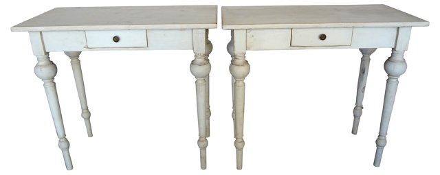 Swedish   Tables,  Pair