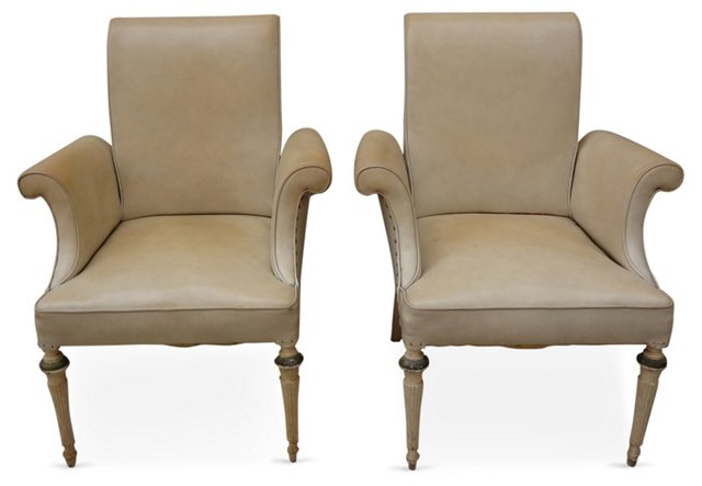 Flared  Armchairs,  Pair