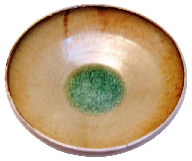 Emerald & Beige Centerpiece Bowl