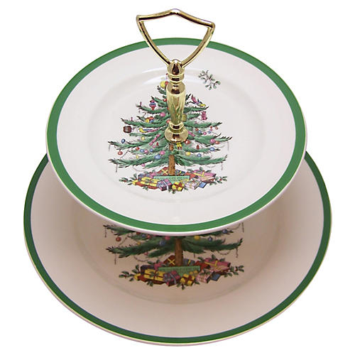 Spode Tiered Cookie Plate