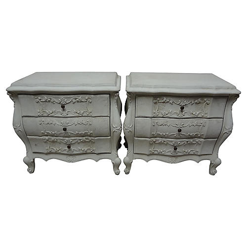 Rococo-Style Nightstands, S/2