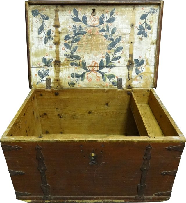 Painted Swedish Trunk, 1749