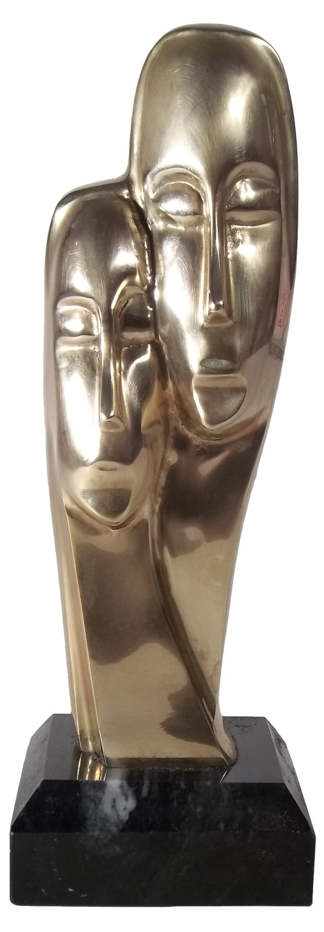 Two Figures Brass Sculpture
