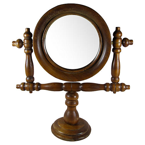 French Barber Shop Swivel Mirror