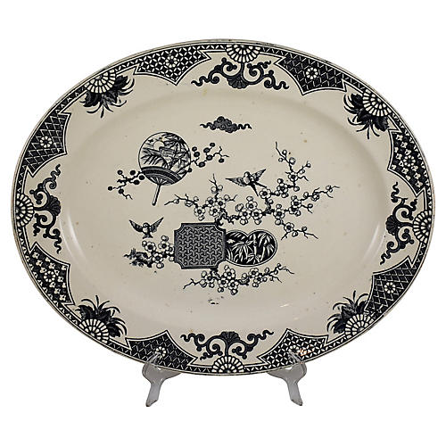 19th-C. Aesthetic Transferware Platter
