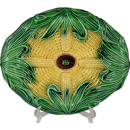 English Adams & Bromley Corn Platter