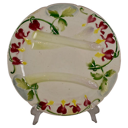 French Bleeding Heart Asparagus Plate