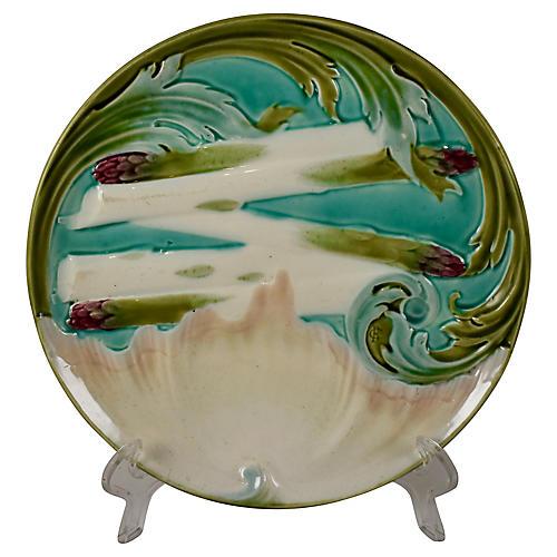 Luneville Faïence Asparagus Plate