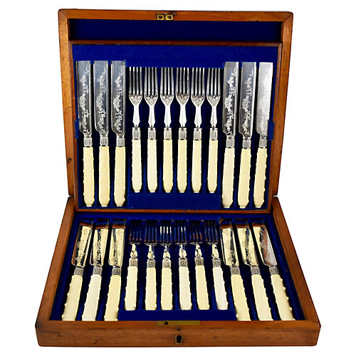 English Forks & Knives, Svc. for 12