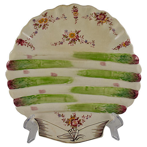 English Adderley Floral Asparagus Plate