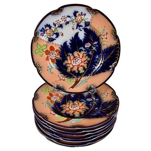 English Chinoiserie Imari Plates, S/8