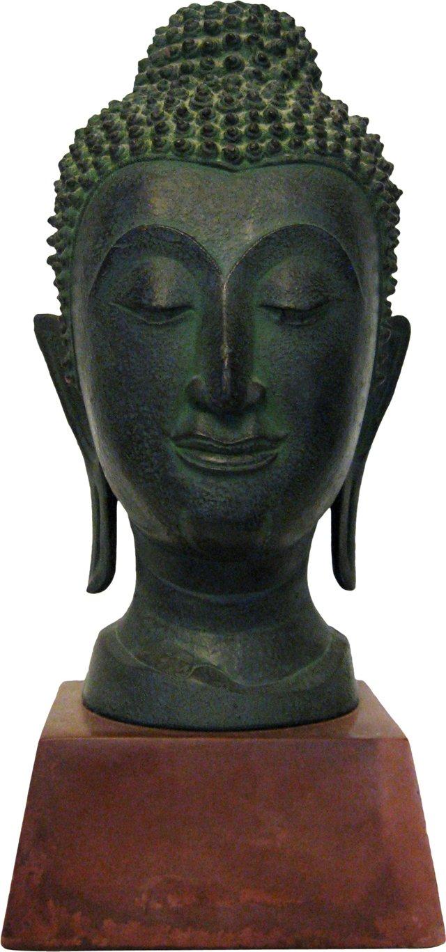 Pottery Buddha Head Sculpture