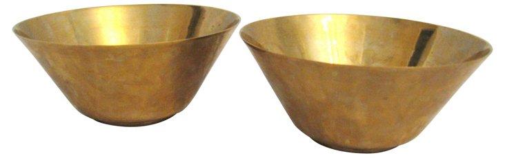 Brass Bowls, Pair
