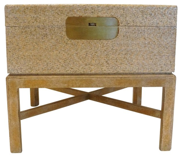 Side Table Trunk w/ Raffia