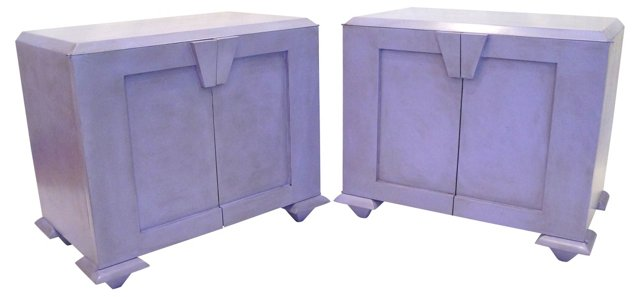 Lilac Side Tables, Pair