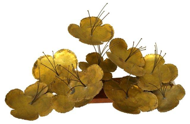 Lotus Flower Metal Sculpture